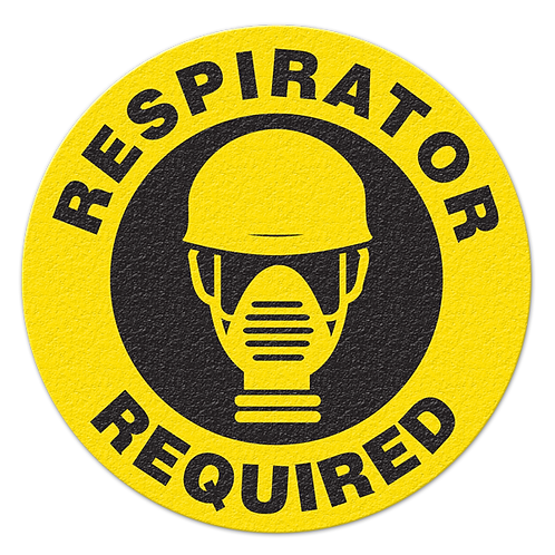 Respirator Required Floor Sign