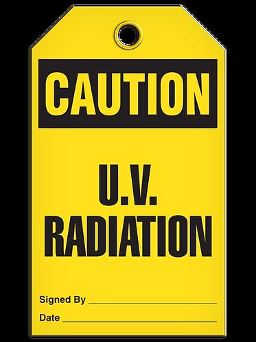 CAUTION - U.V. Radiation