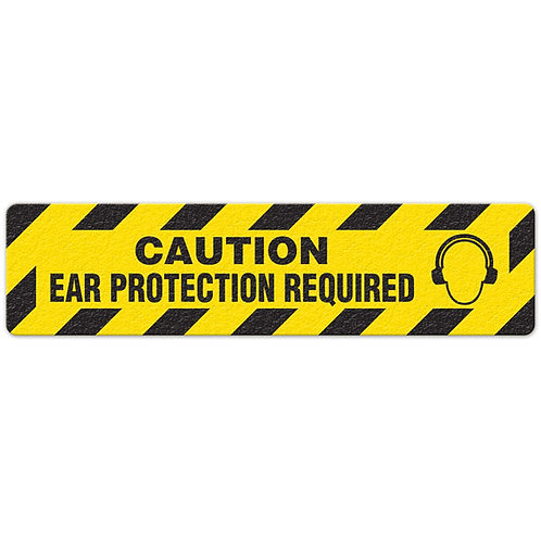 Caution - Ear Protection Required Floor Sign