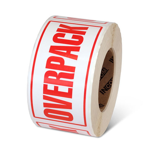 "OVERPACK - 3"" x 6"" Handling Label"