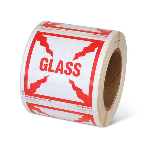 "GLASS - 4"" x 4"" Handling Label"