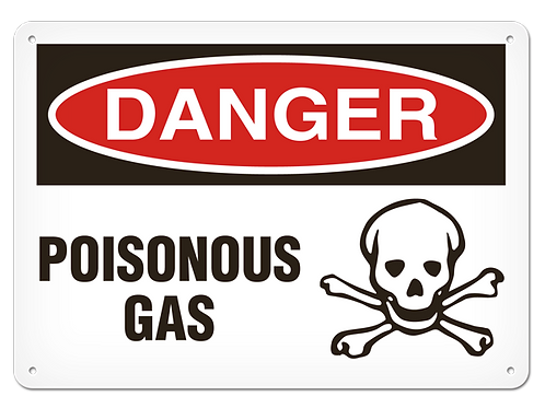 DANGER - Poisonous Gas Safety Sign