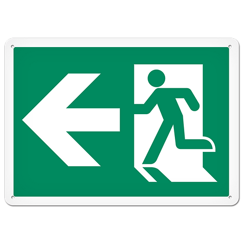 FIRE SIGNS - Exit (Left)