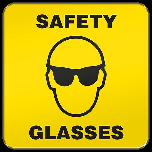 Safety Glasses Floor Sign