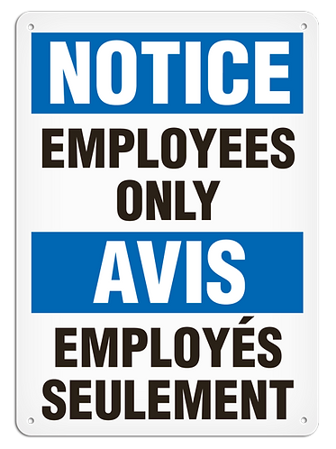 BILINGUAL NOTICE - Employees Only
