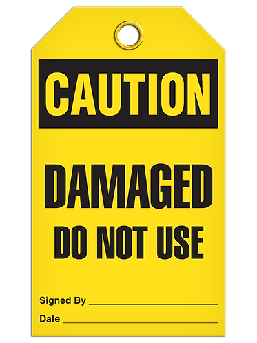 CAUTION - Damaged Do Not Use