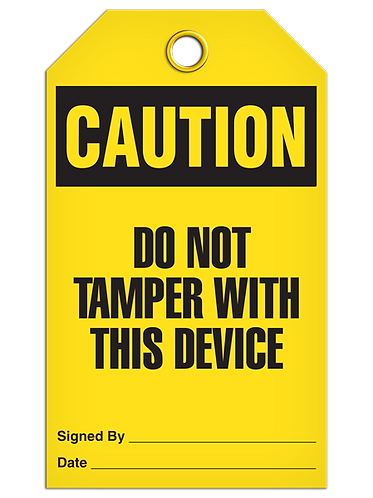 CAUTION - Do Not Tamper With This Device