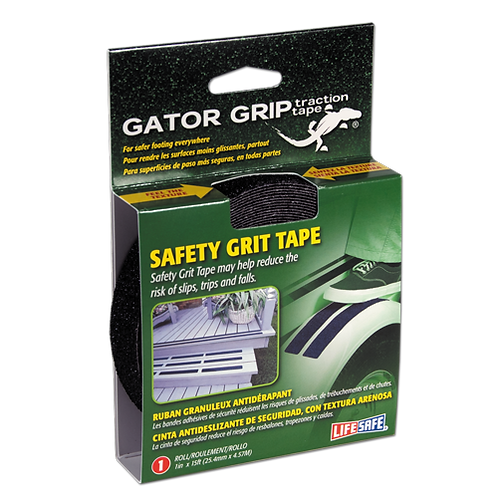 Gator Grip® Anti-Slip Safety Grit Tape 15ft (Black)