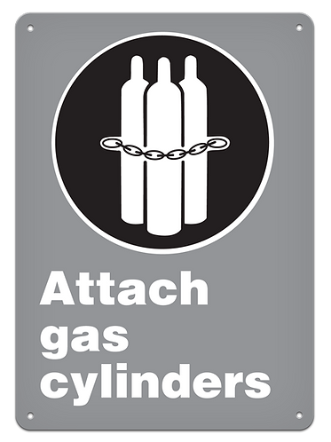 MANDATORY - Attach Gas Cylinders