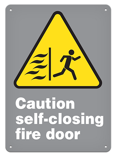 CAUTION - Caution Self-closing Fire Door