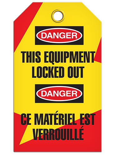 Bilingual LOCKOUT - This Equipment Locked Out