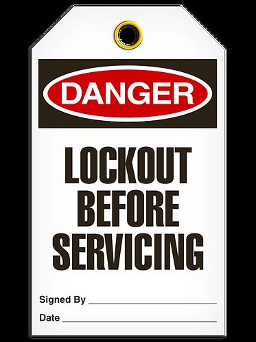DANGER - Lockout Before Servicing