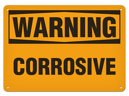 WARNING - Corrosive Safety Sign
