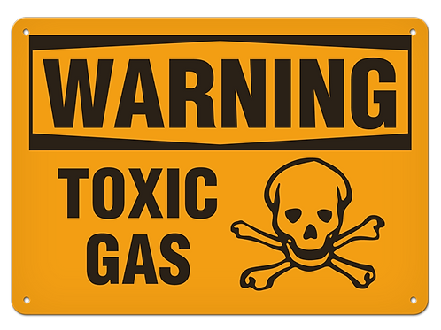 WARNING - Toxic Gas