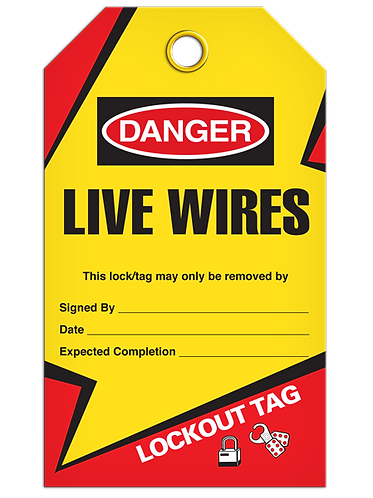 LOCKOUT TAG - Live Wires