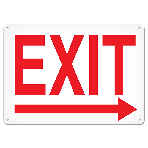 FIRE SIGNS - Exit (Right Arrow)