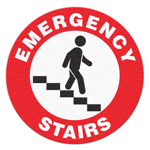 Emergency Stairs Floor Sign