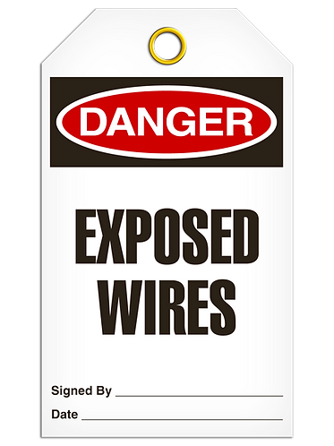 DANGER  -  Exposed Wires