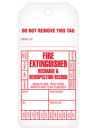 INSPECTION Tag Roll  -  Fire Extinguisher