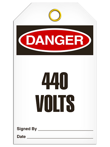DANGER  -  440 Volts