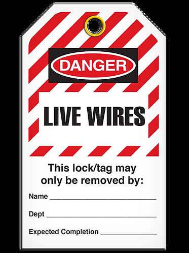 LOCKOUT TAG - Live Wires - Hazard Stripe