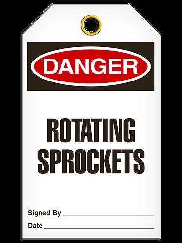 DANGER  -  Rotating Sprockets