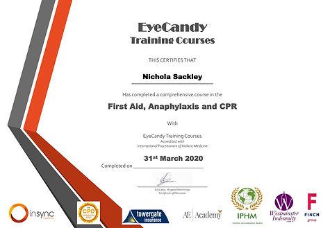 Nichola Sackley First aid anaphylaxis an
