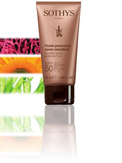 SPF50 Sensitive zones protective fluid