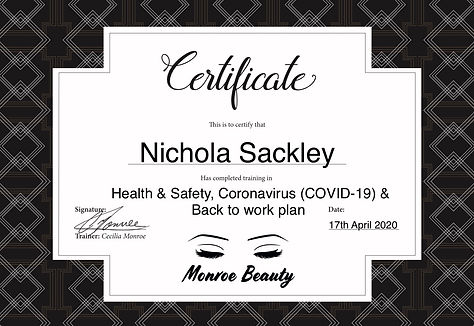 Monroe Beauty Training Infection control
