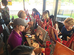 Paint Party and Wine, MWC Bistro, Gilbert, AZ.
