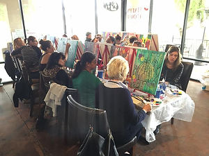Paint Party and Wine at MWC Bistro in Gilbert, AZ