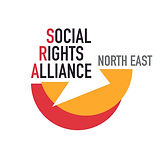 The words 'Social Rights Alliance North East' above two overlapping semi circles