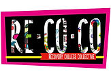'Re-Co-Co' in large colourful letters on black and pink background
