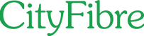 City Fibre Logo- the words City Fibre in Green text