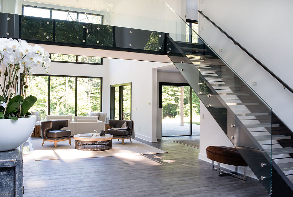 contemporary living room by custom home builder in Northern VA