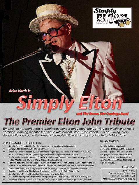Simply Elton Tribute Impersonator Elton