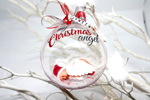 'My Christmas Angel' memorial bauble