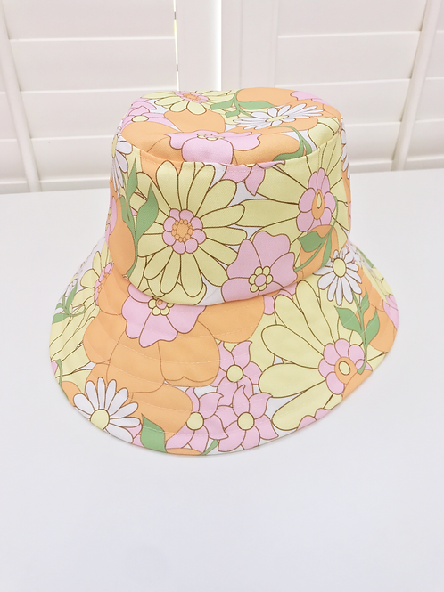 Sun Seeker bucket hat (custom print)