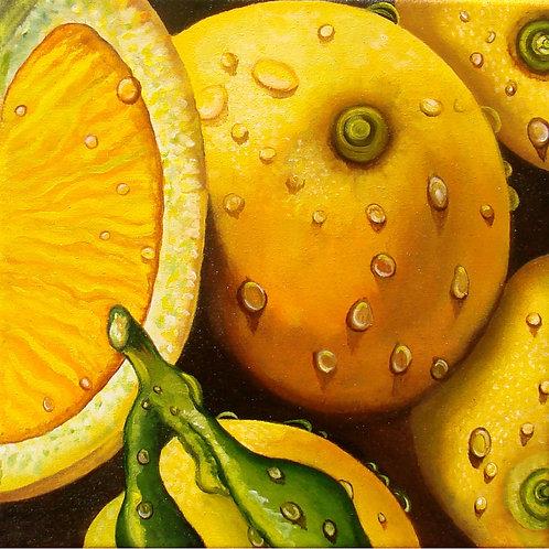 Lemons/Canvas Painting/ Giclée/Reproduction