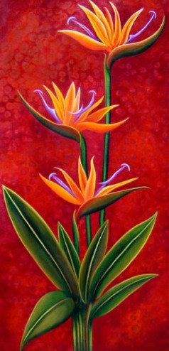 Paradisio/ Canvas painting/reprofuction/Giclee