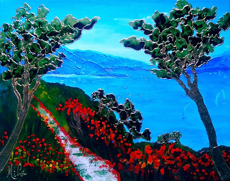 Cote Azur/ Painting/ Large canvas/ Reproduction