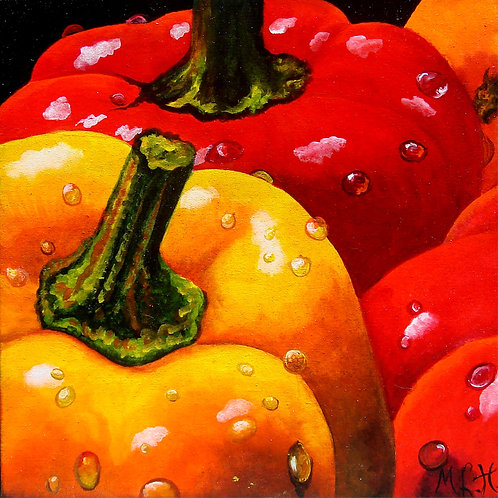 Peppers/Canvas Painting/ Giclée/Reproduction