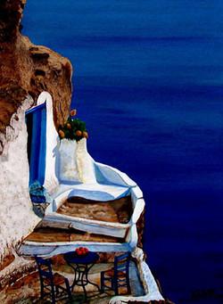 Santorini terrasse