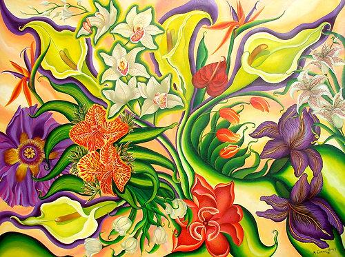 Calla jaunes/Giclée/Canvas Painting/Reproduction