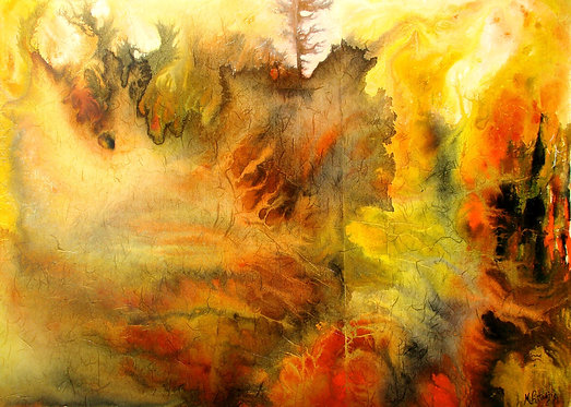 Tormented Lands/ Painting/ Large canvas/ Reproduction