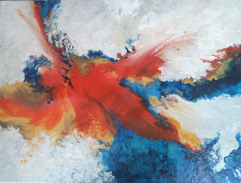 Phoenix on Fire/Giclée/ Canvas painting/Reproduction