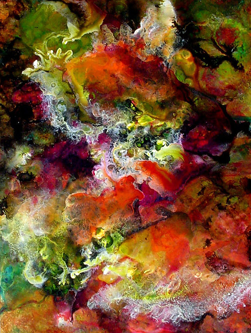 Envol des Ecumes/ Painting/ Large canvas/ Reproduction