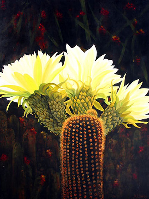 Dazzling cacti/Painting/Giclée/Reproduction