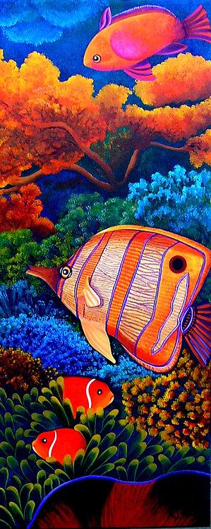 Blue Corals/ Painting/Giclée