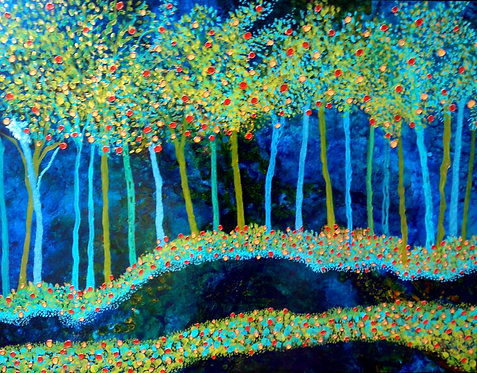 Magical Forest/ Painting/ Large canvas/ Reproduction